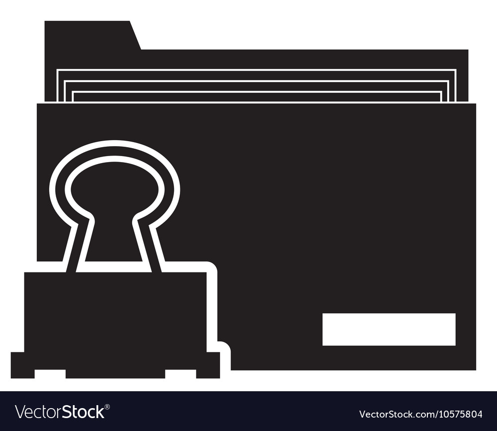 File folder and clerical clip icon