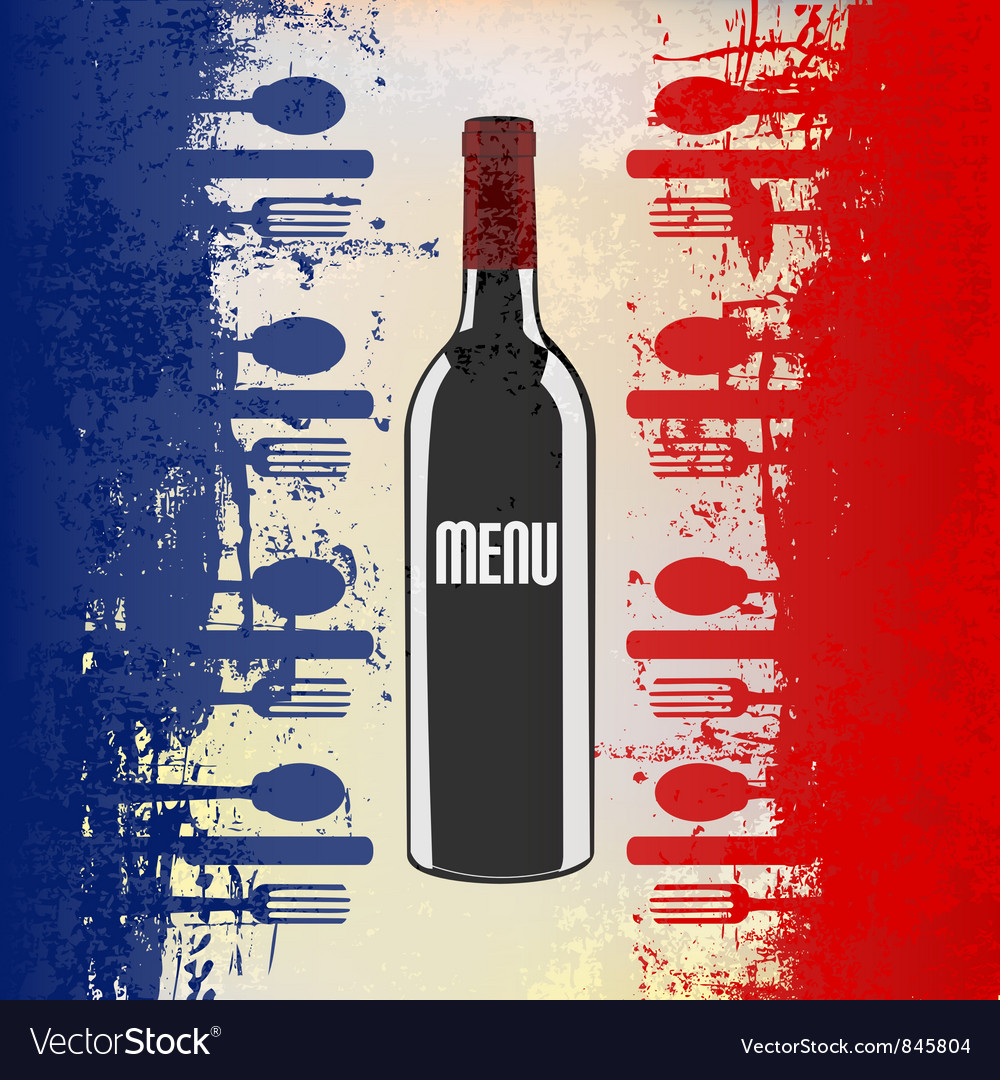 french wine menu template royalty free vector image