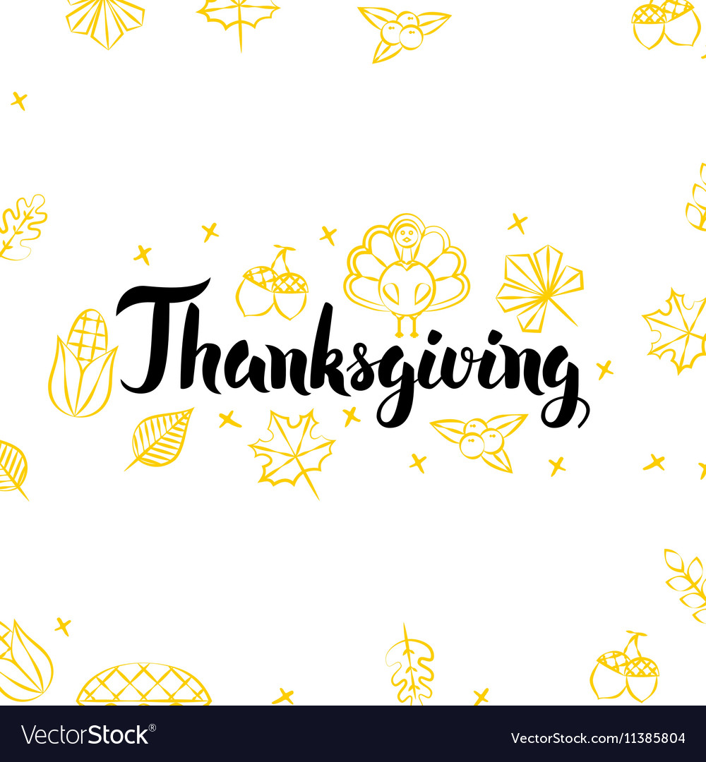 Thanksgiving golden greeting postcard