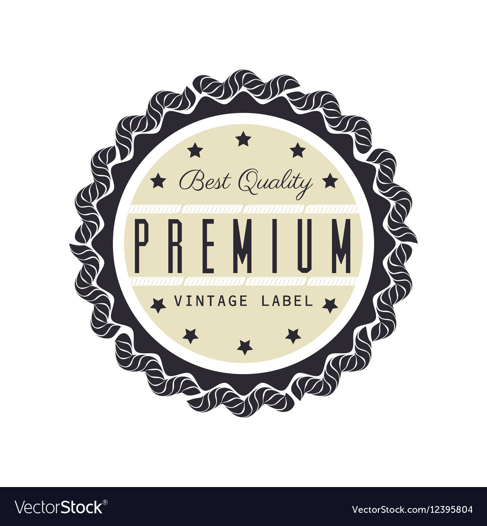Vintage frame quality seal Royalty Free Vector Image