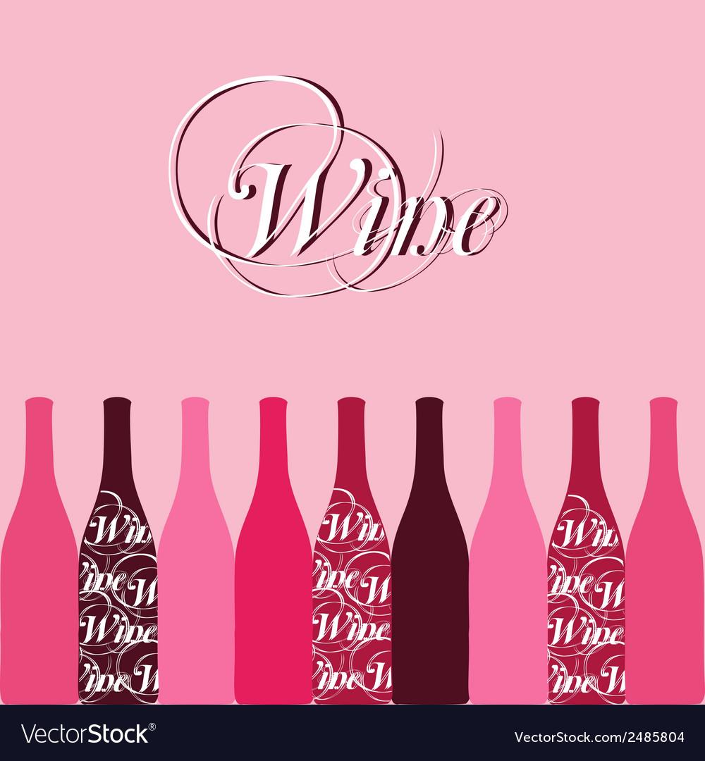 Wine bottle silhouette