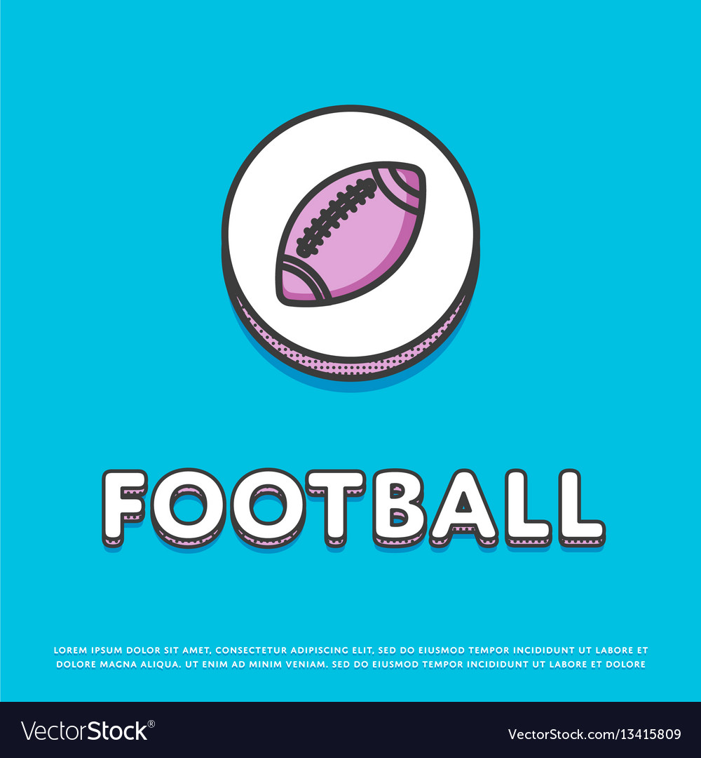 American football colour icon with ball