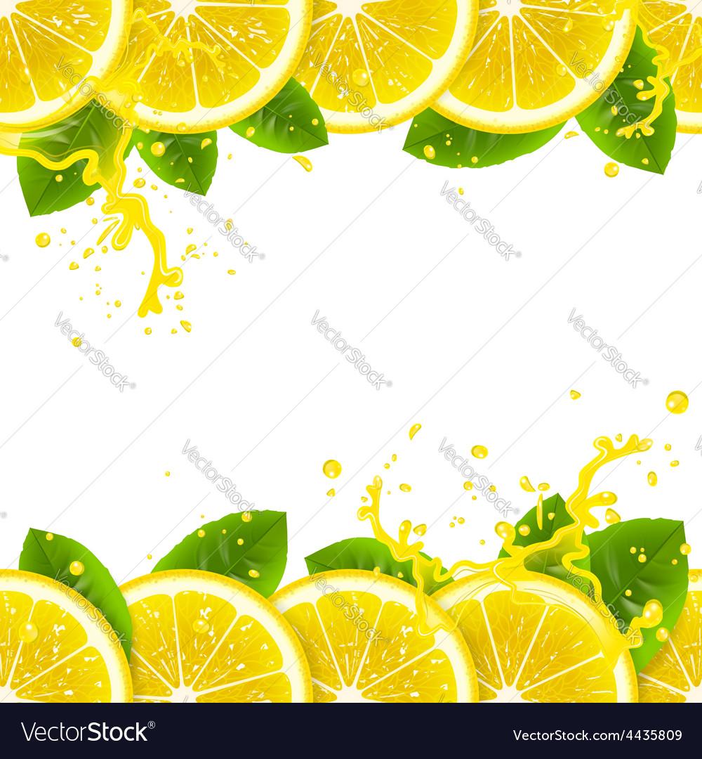 Banner with fresh lemons