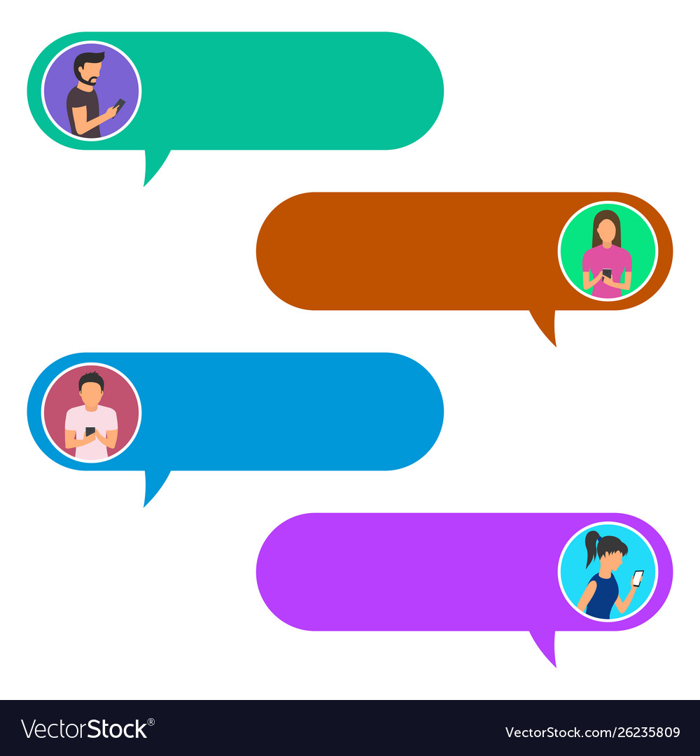 Concept Online Chat Man And Woman Royalty Free Vector Image