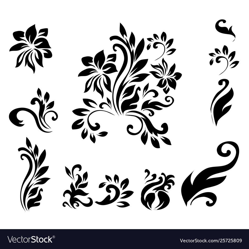 Decorative victorian style calligraphic