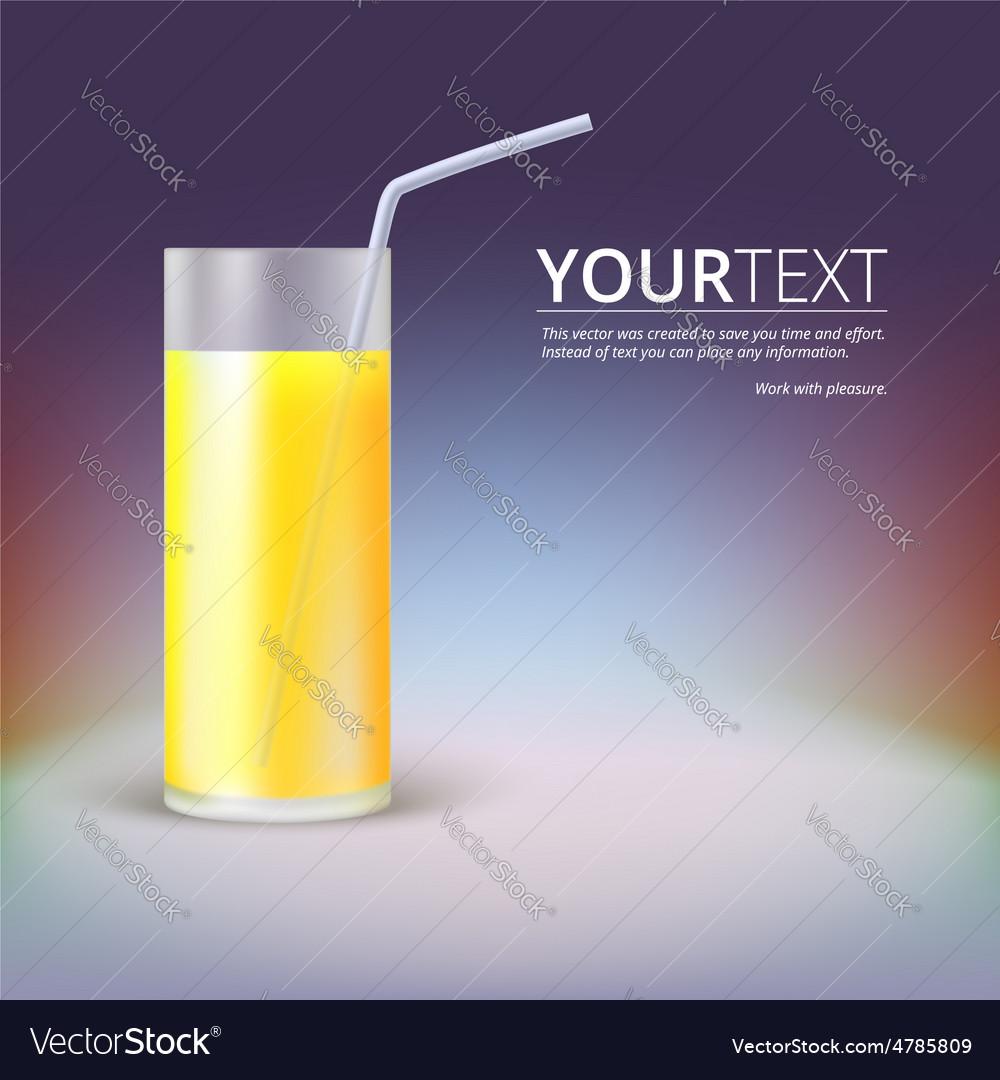Glass of juice vector image