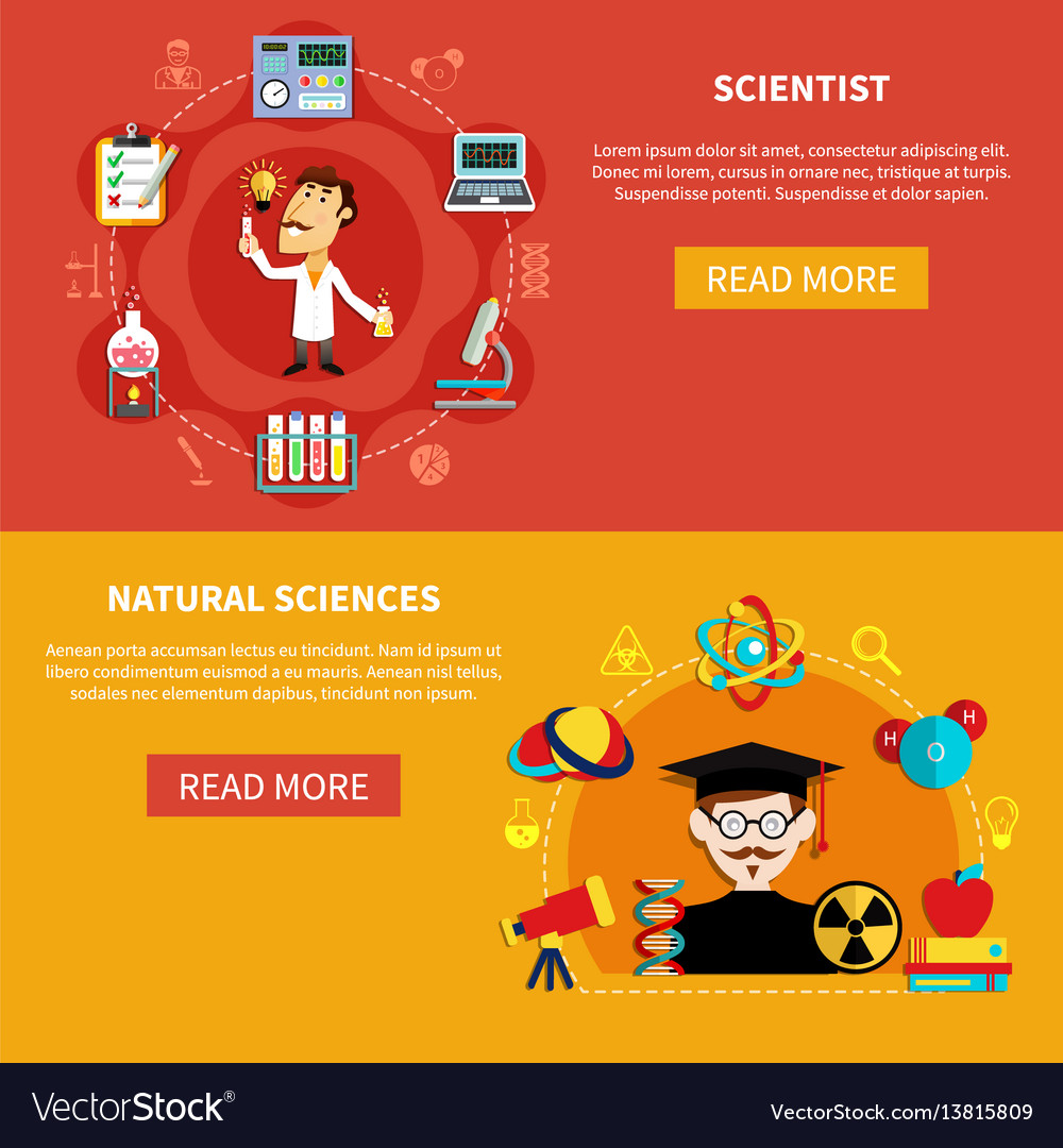 Natural science banners