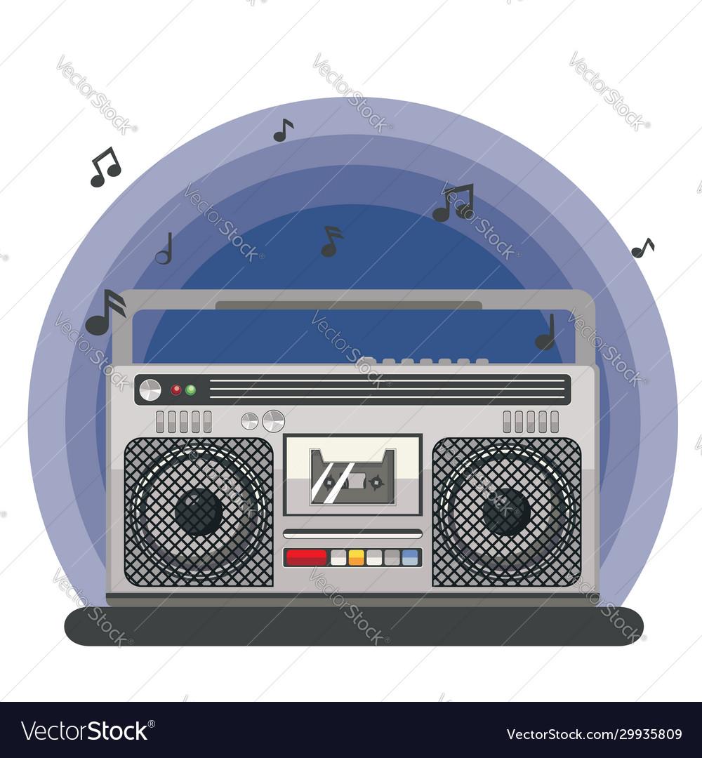 Retro portable boombox