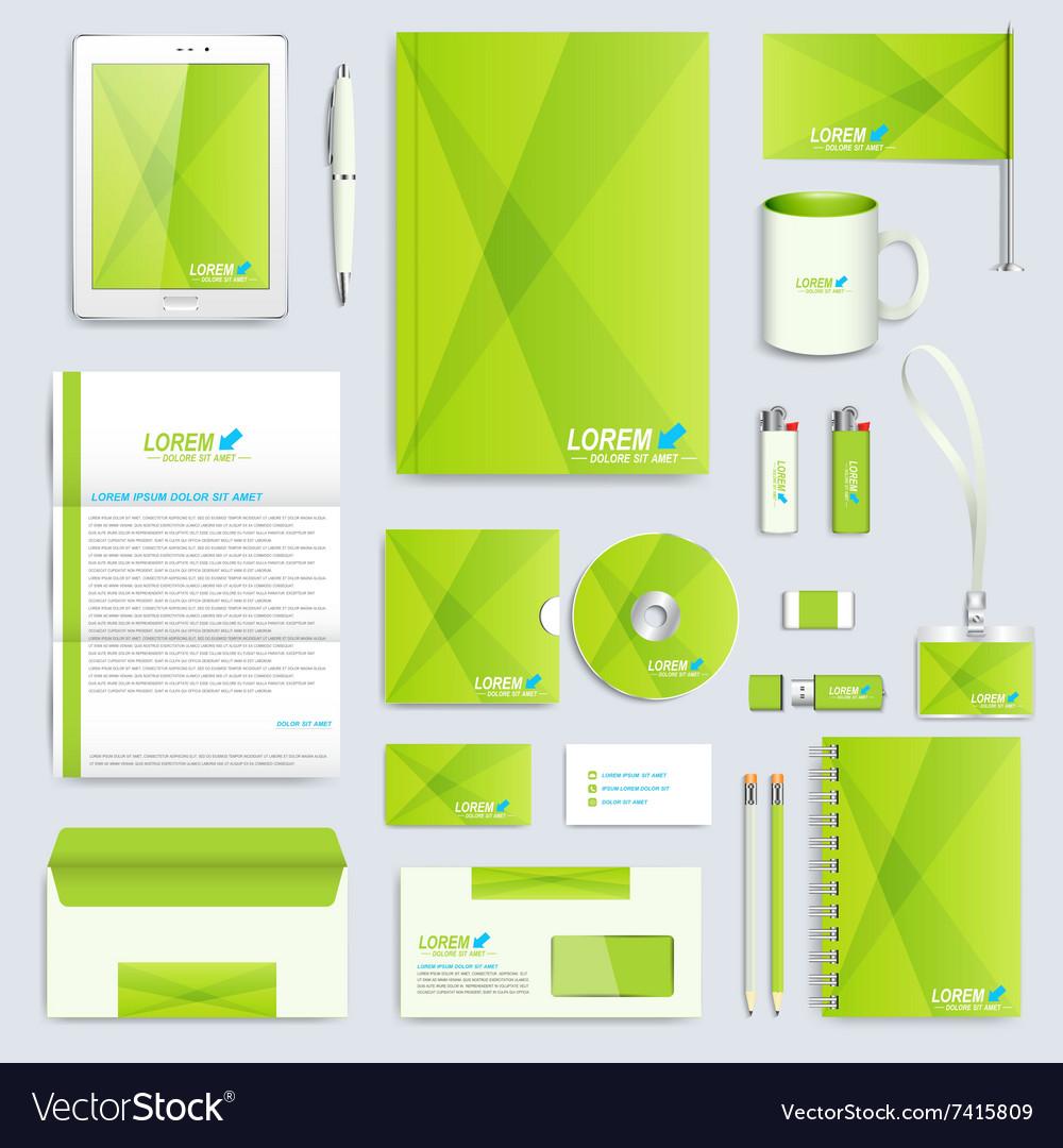 Set of corporate identity template Modern