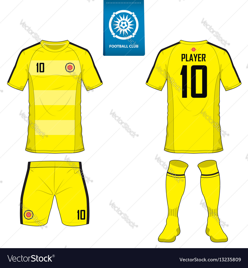 Set of soccer kit or football jersey template Vector Image d3e0fd0ab