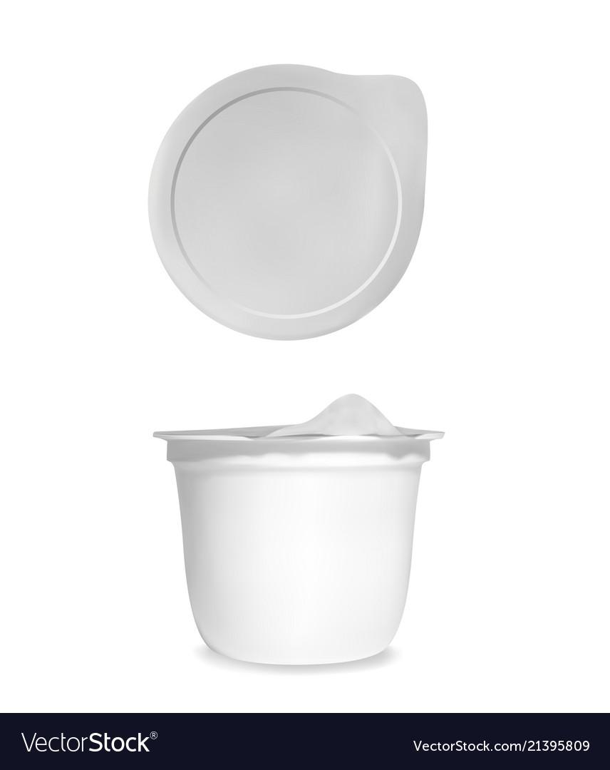 Yogurt plastic package