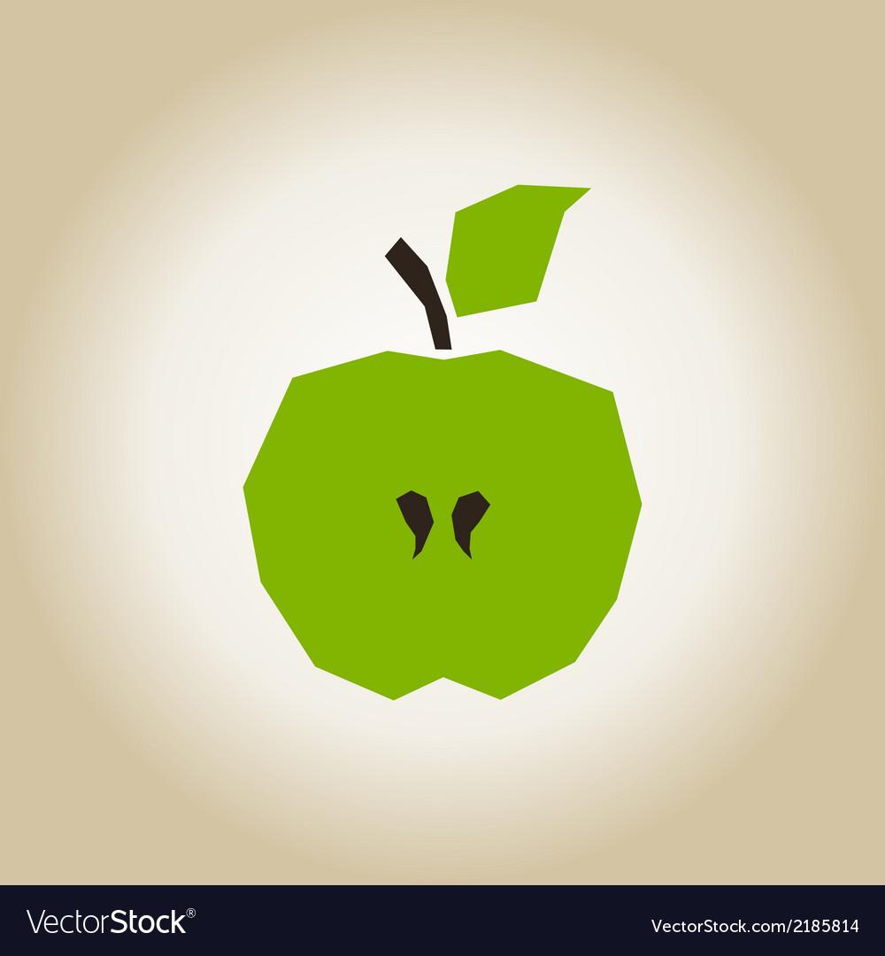 Apple broken vector image
