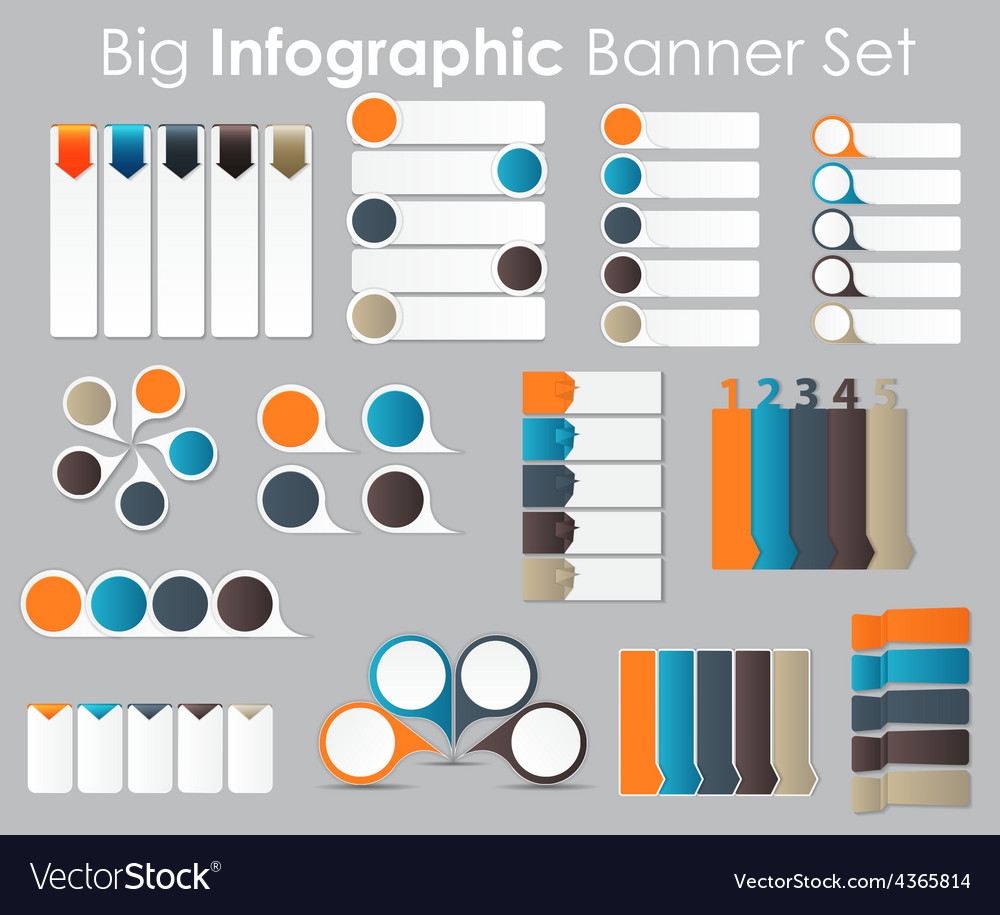 Big set infographic banner templates for your