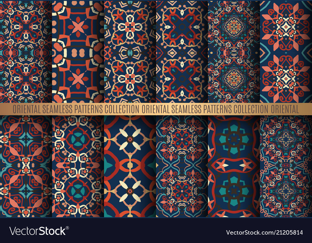 Colorful arabesque patterns