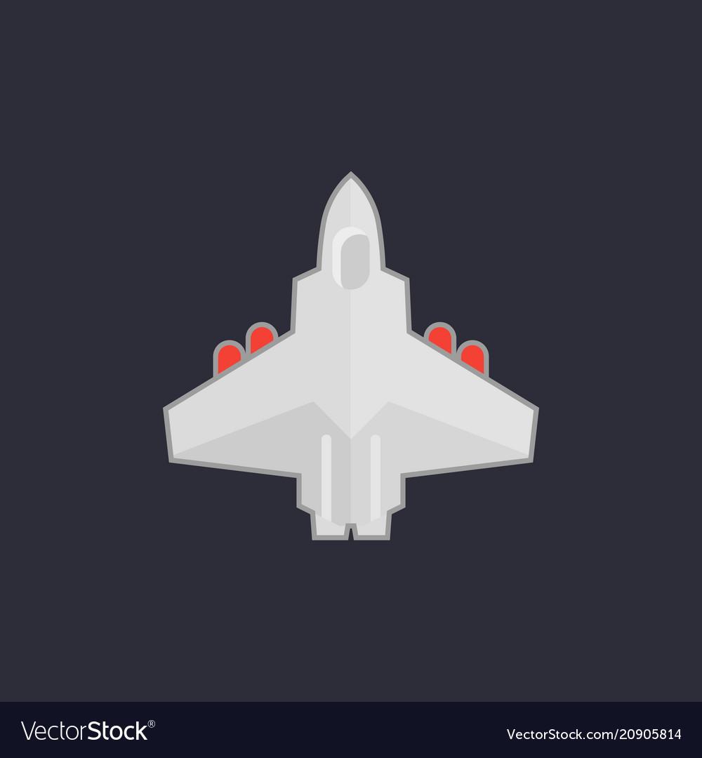Combat aircraft jet icon