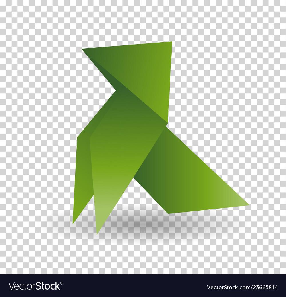 Dog origami animal geometric isolatet on