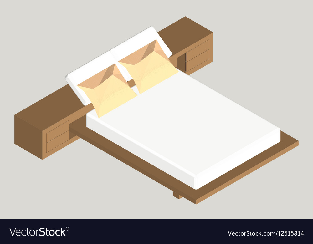 Isometric home furniture - bed Interior element