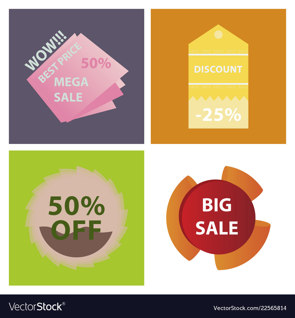 Mega sale with upto 50 discount offer creative