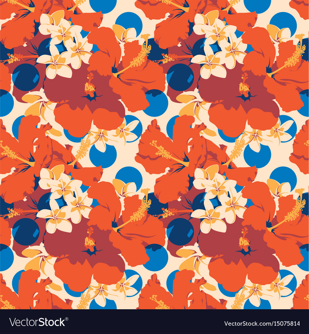 Seamless summer hawaiian tropical pattern with