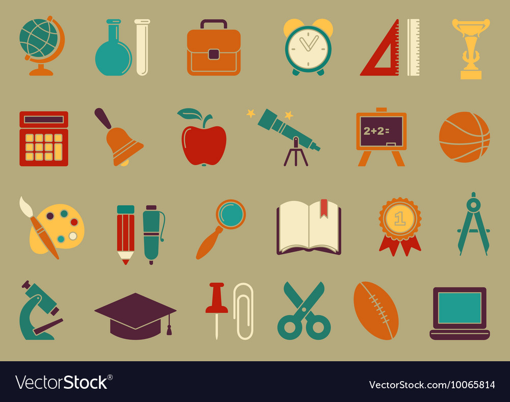 Symbols Of School And Education Royalty Free Vector Image