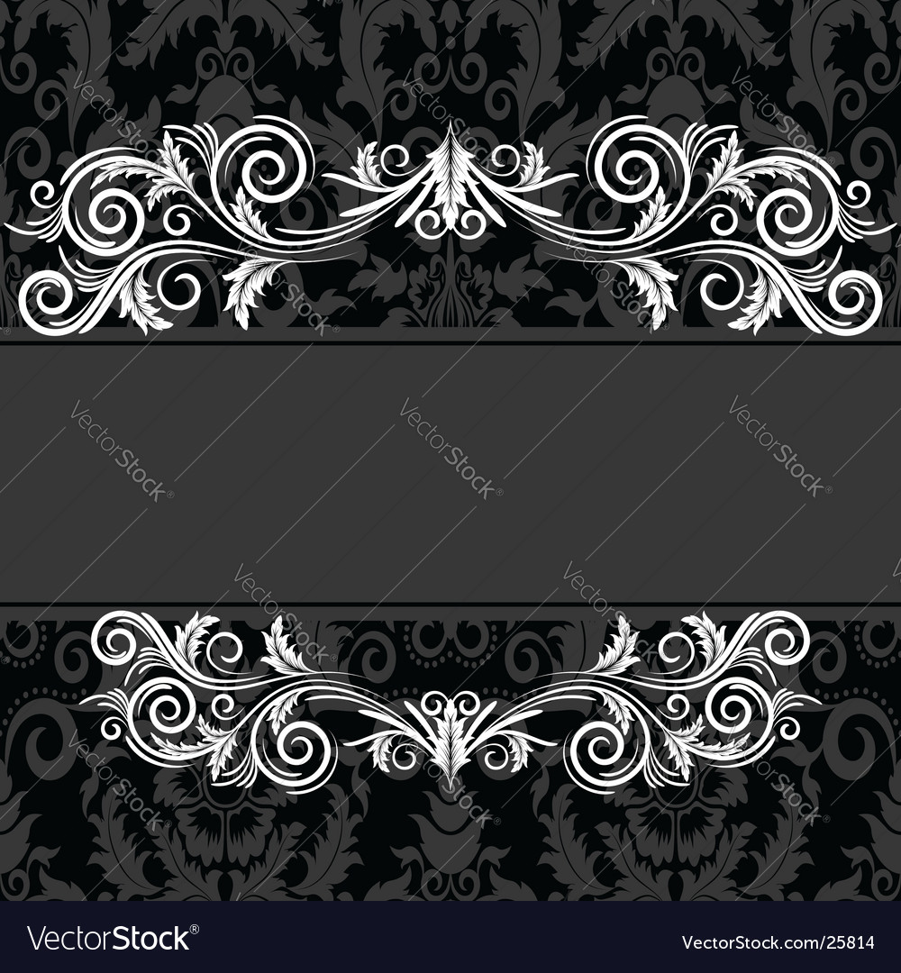 Vintage black frame vector image