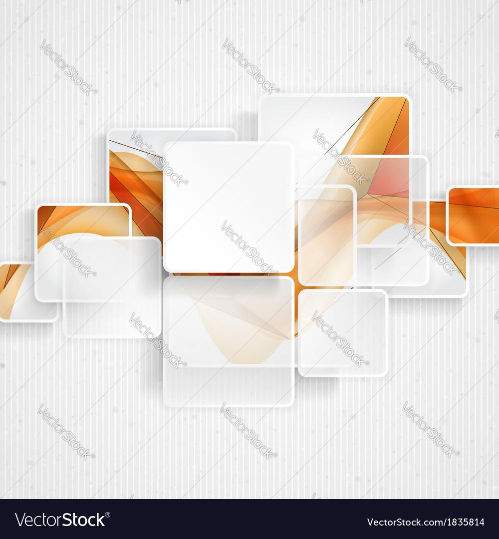 White Square Element vector image