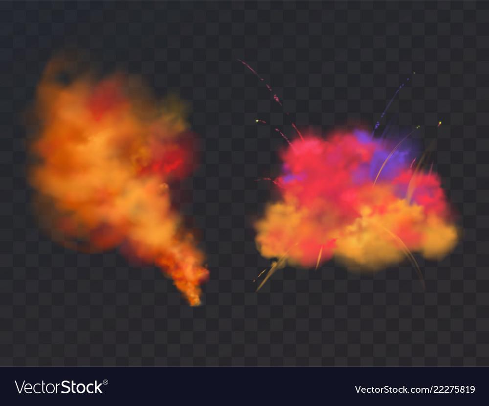 3d realistic paint powder explosion holi