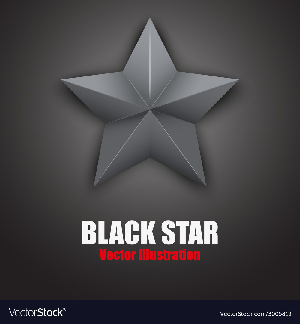 Background of Black five-pointed star