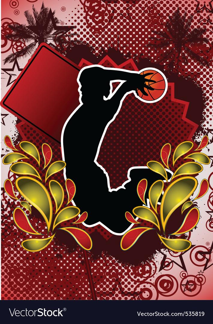 Basketball summer background