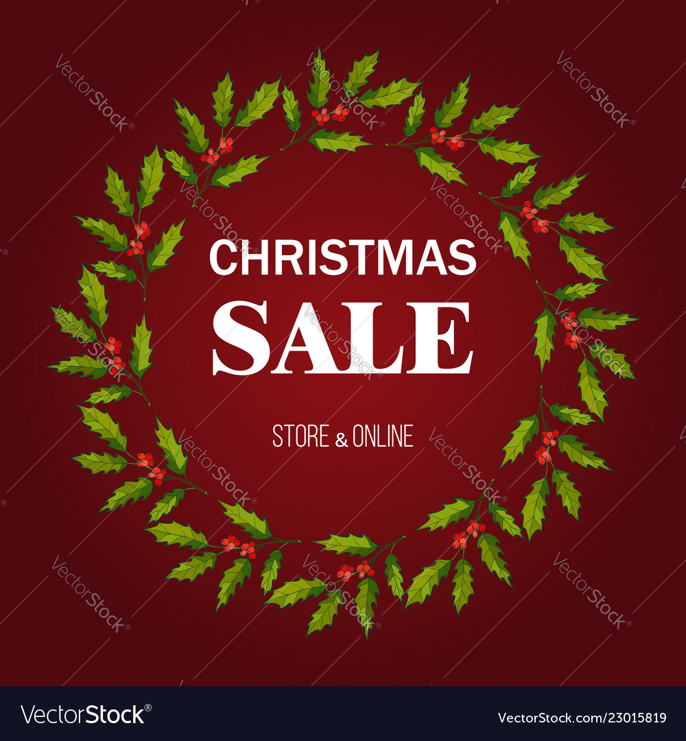Christmas sale poster special offer