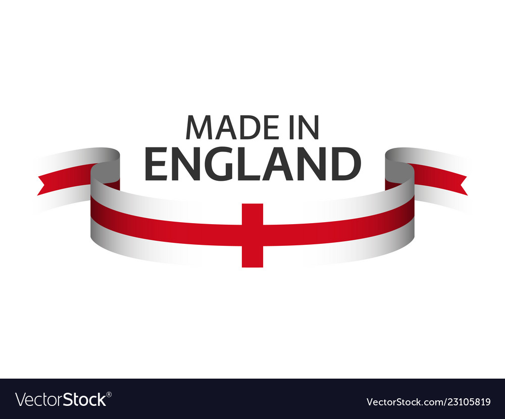 Made in england colored ribbon with english