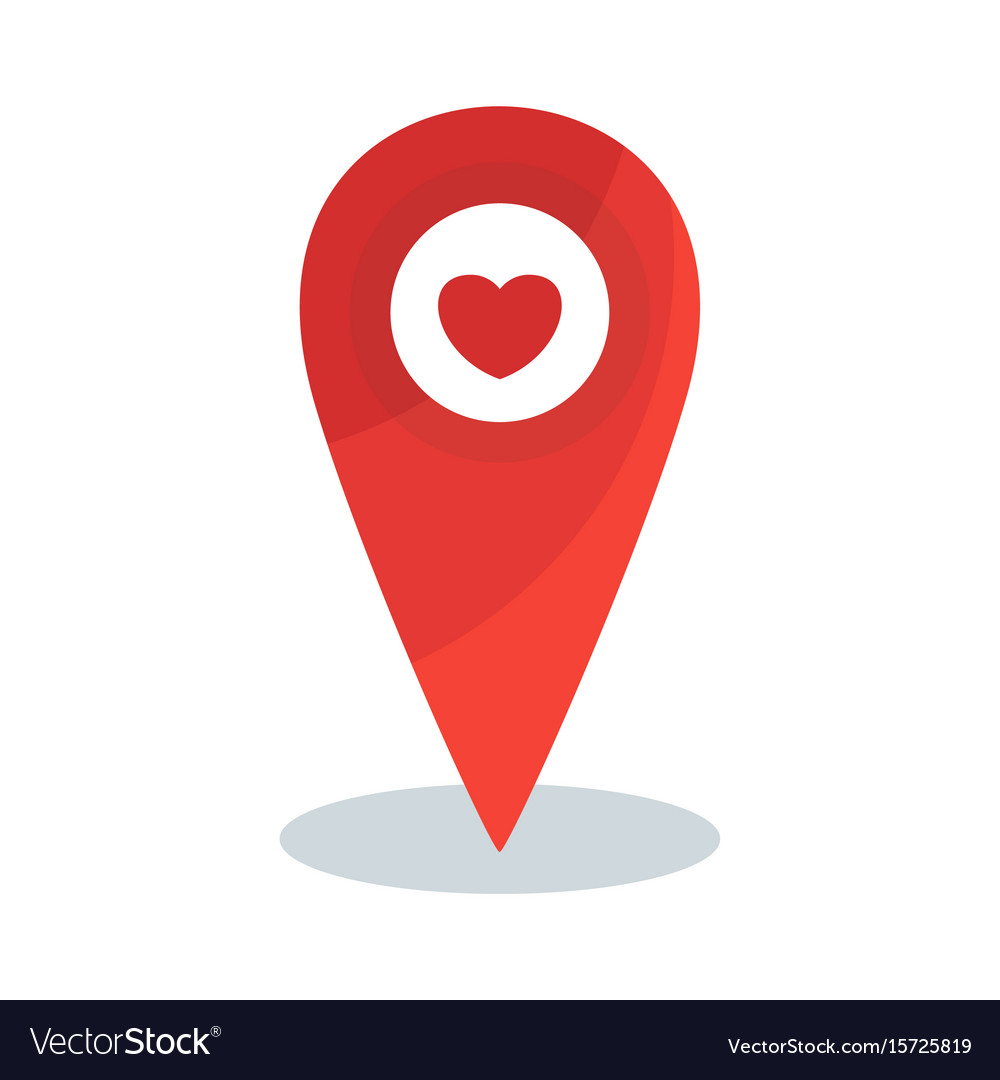 map pin heart vector image