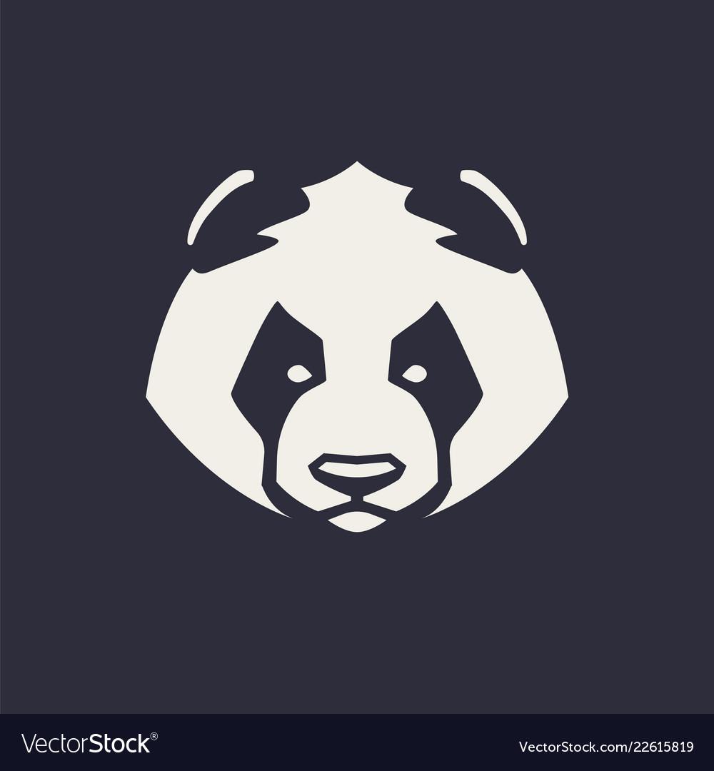 Panda mascot icon