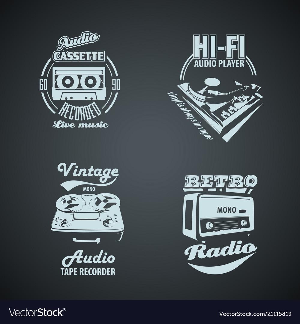 Set of retro monocrome vintage logotypes