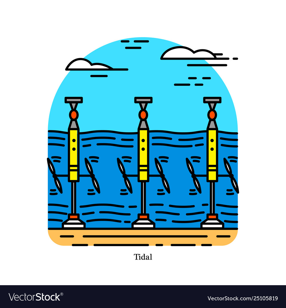 Tidal power plant form hydropower that