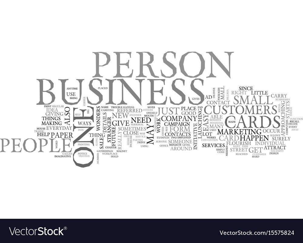 Benefits of the business cards text word cloud vector image colourmoves