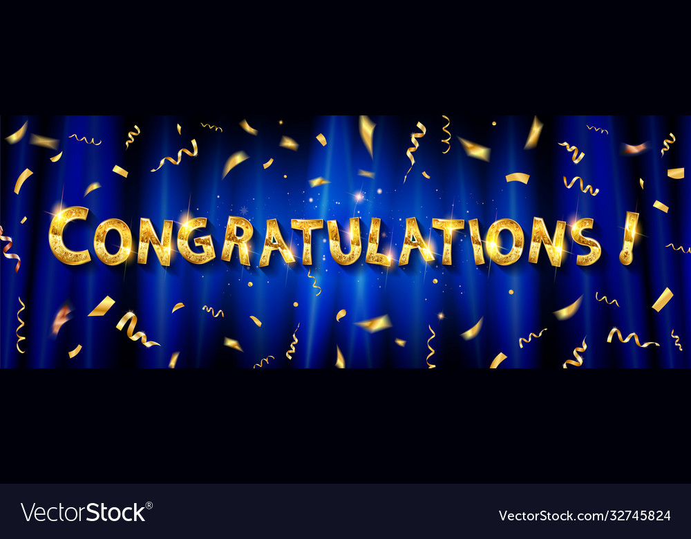 Congratulations to gold lettering