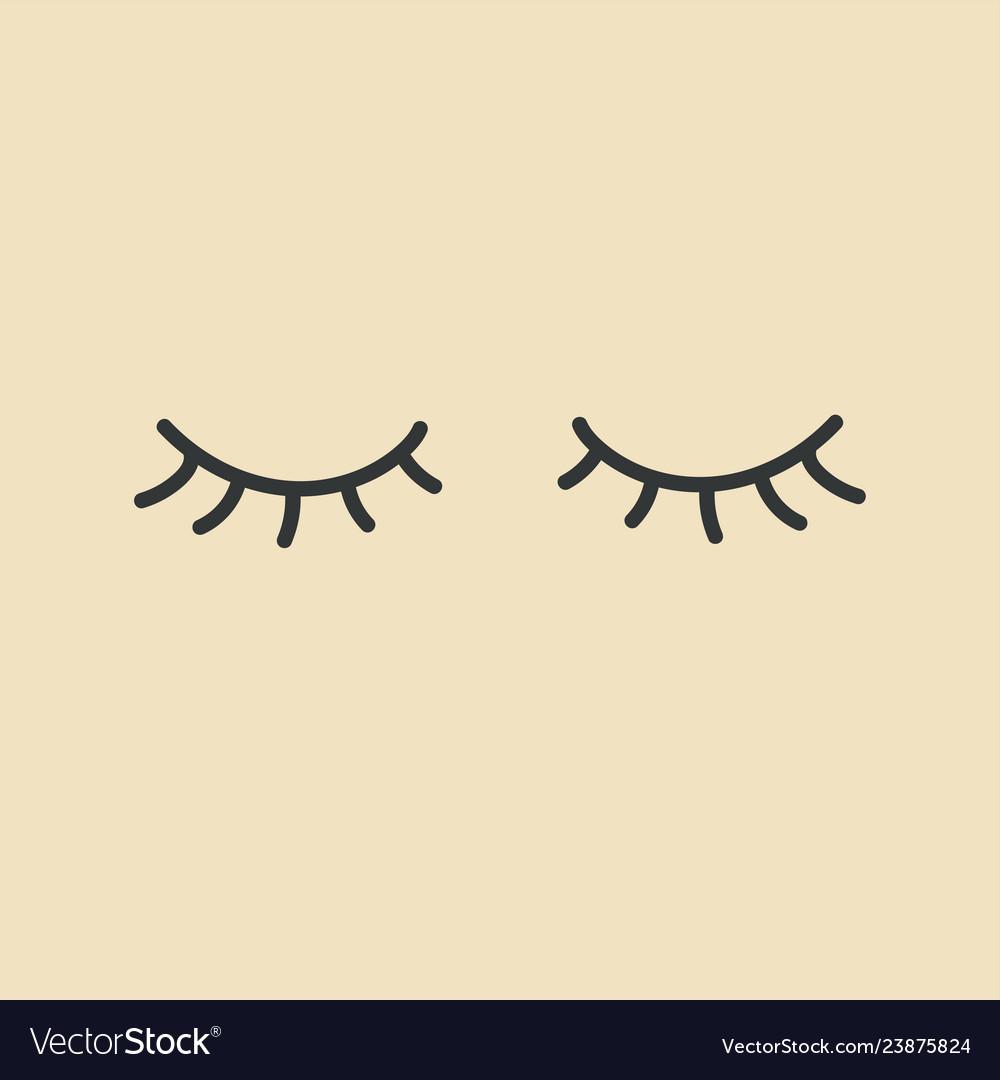 Eyelashes closed eyes