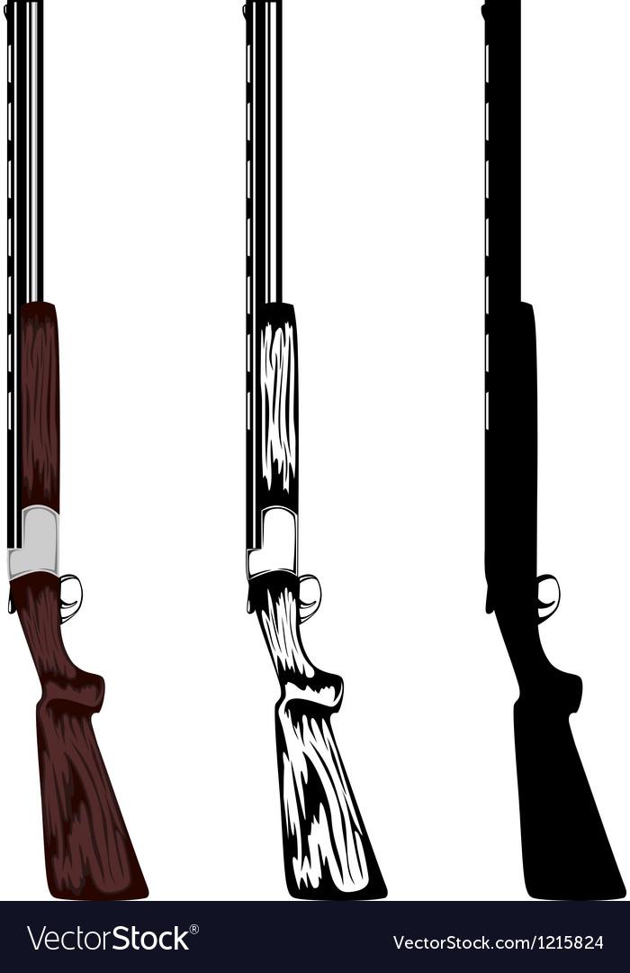 Huntings rifle vector image