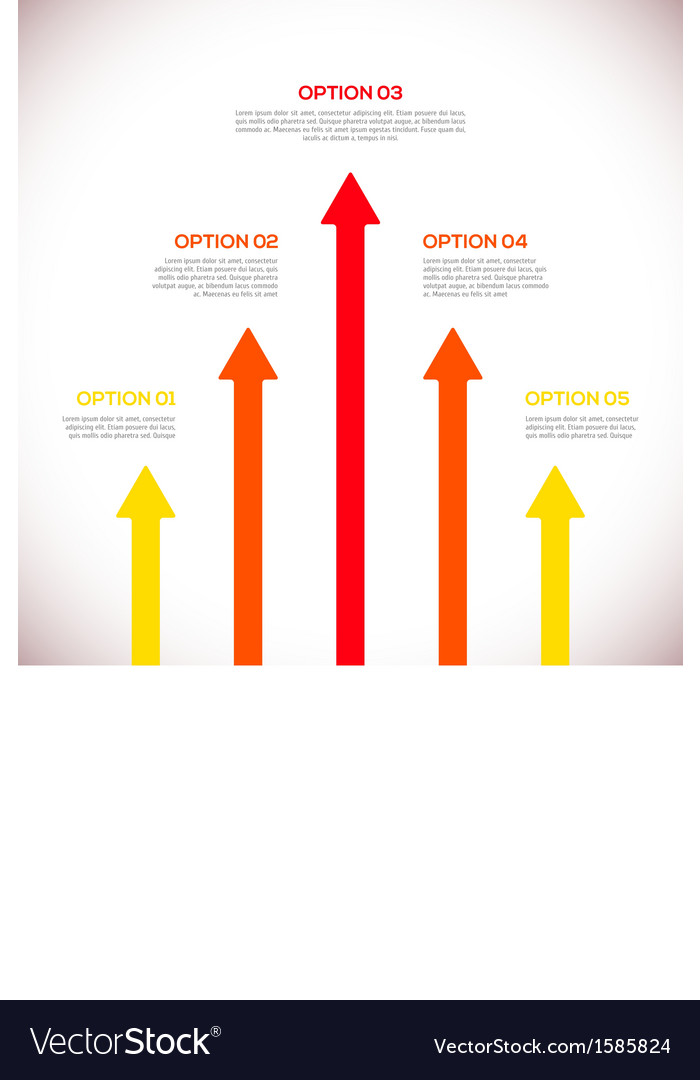 Infographics template with arrows vector image