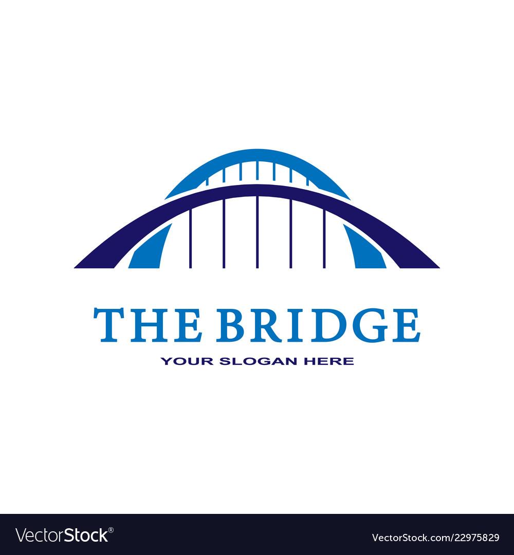 Abstract bridge logo design template esp 10