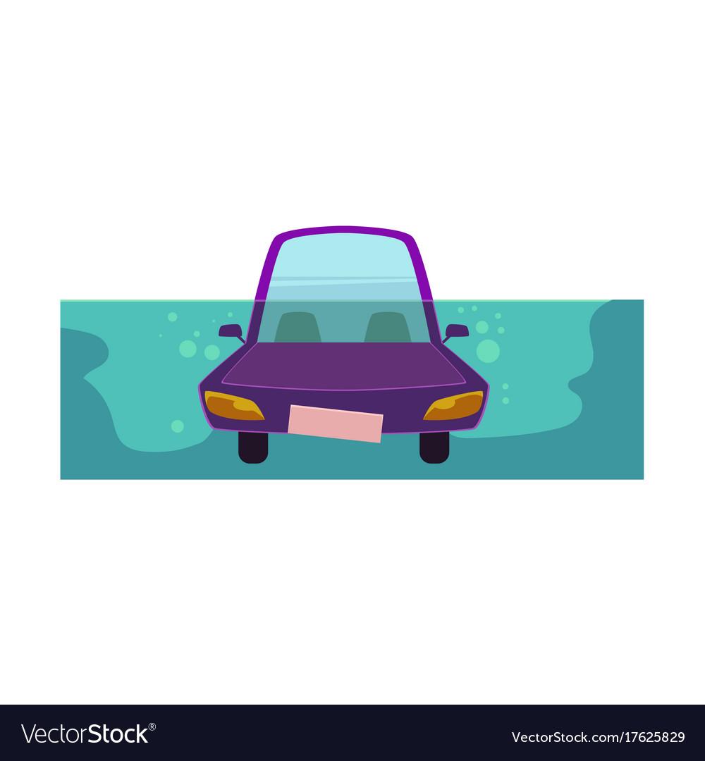 Flat cartoon stylized drowing car vector image