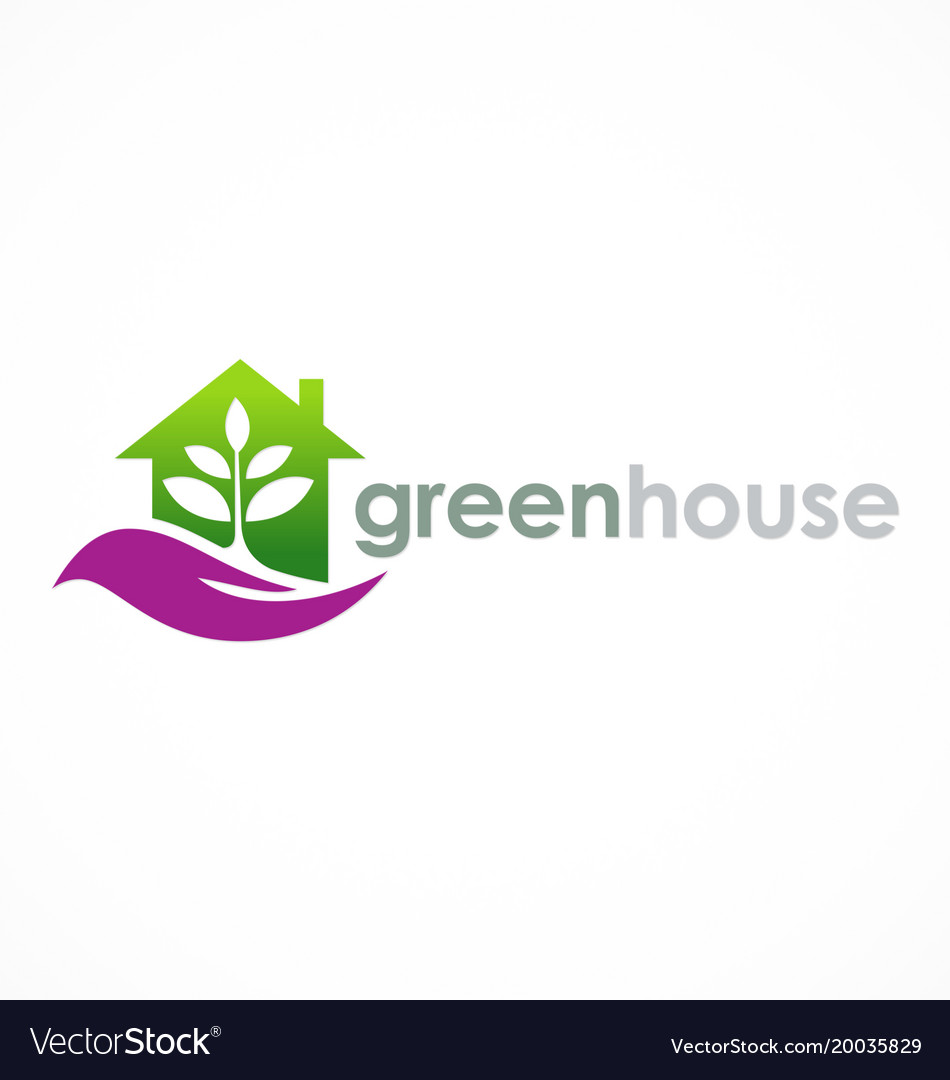 Green house eco logo