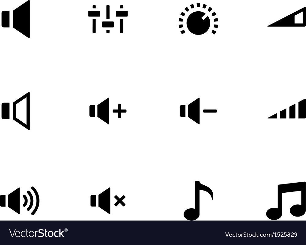 Speaker icons on white background Volume control vector image