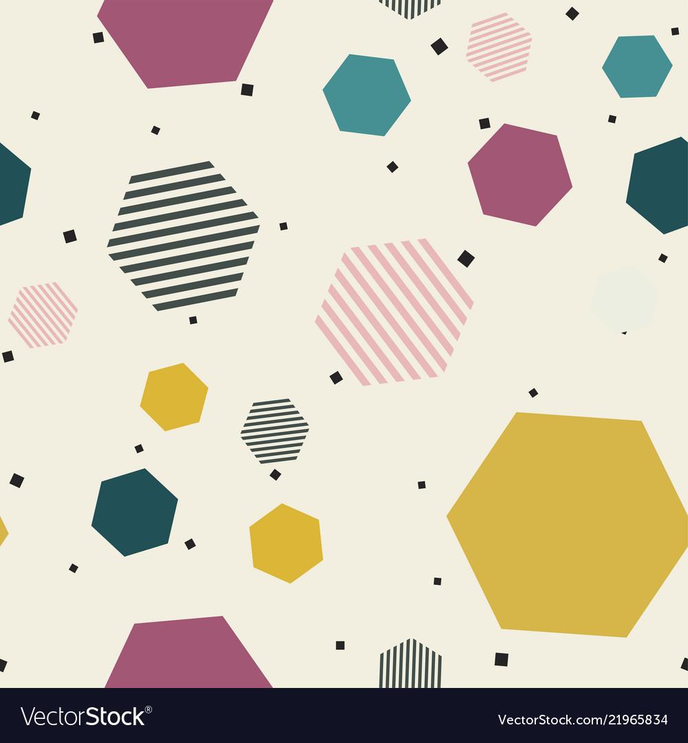 Abstract geometric pattern memphis seamless