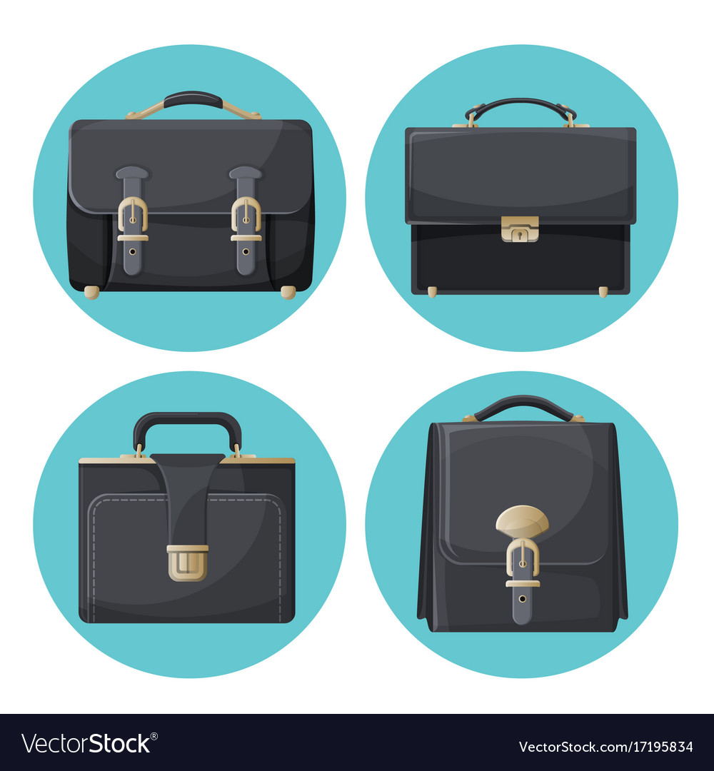 Collection of briefcases businessman accessories
