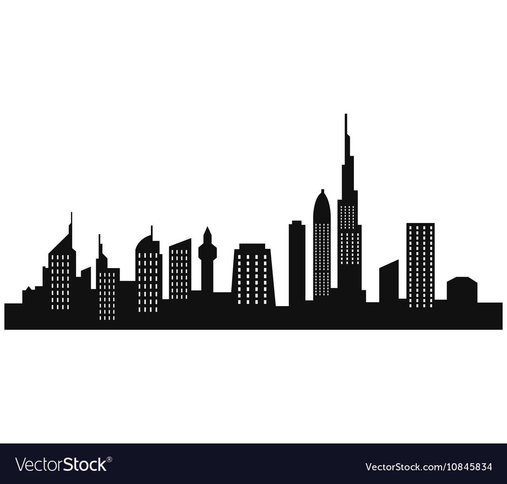 dubai skyline royalty free vector image vectorstock rh vectorstock com skyline vector paris skyline vector paris