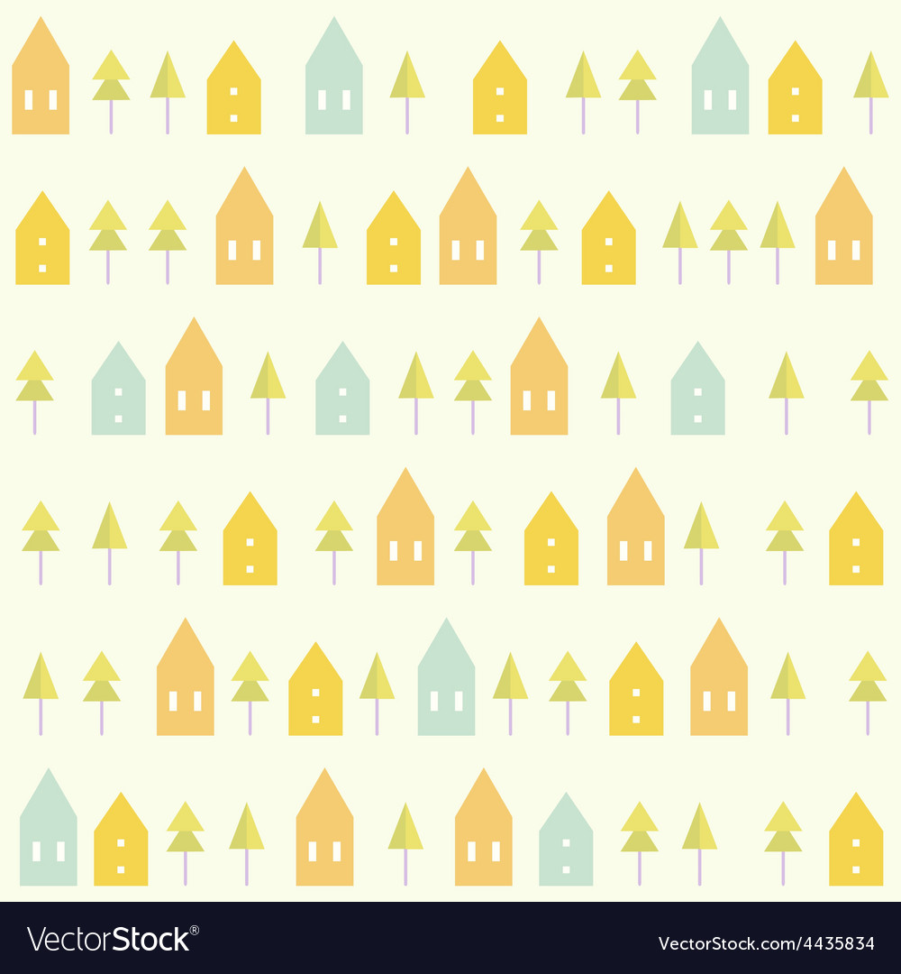 Houses and spruces pattern