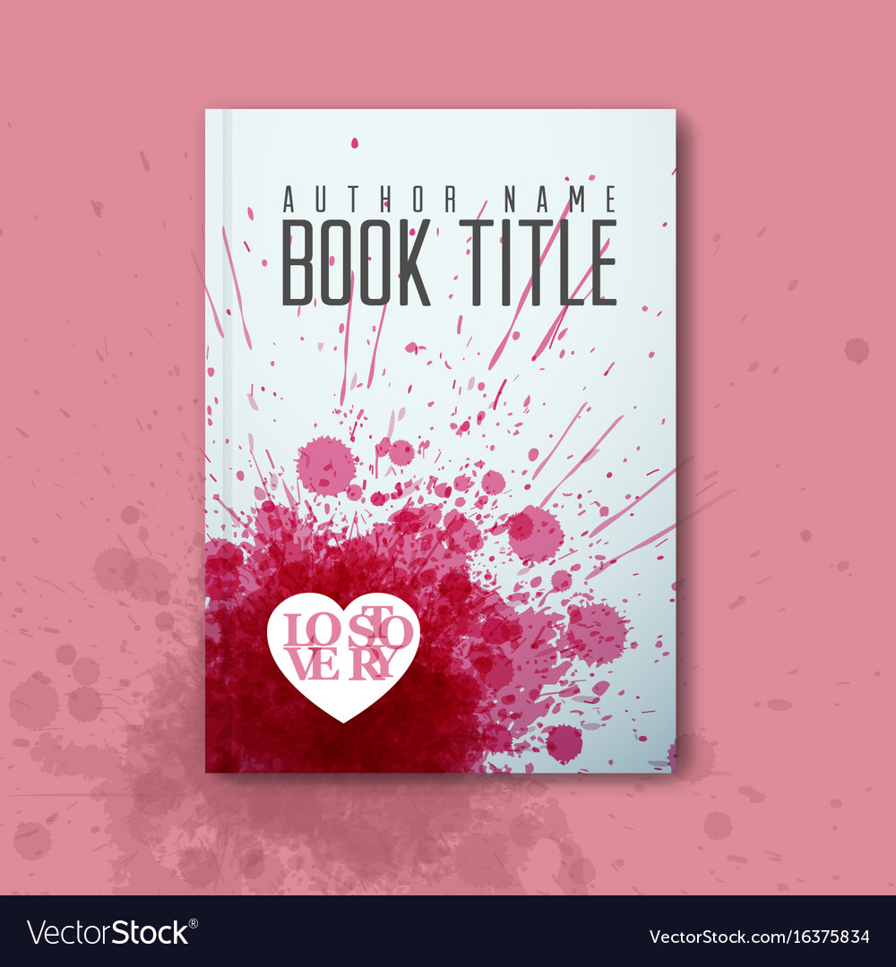 Modern Abstract Love Book Cover Template Vector Image