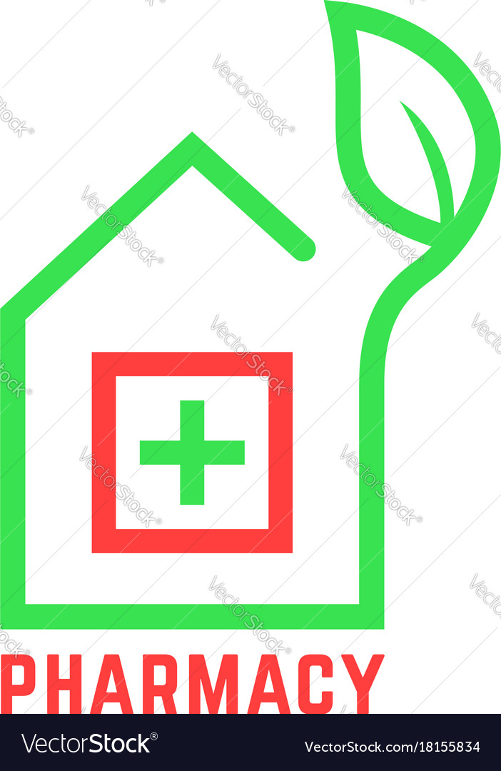 Pharmacy logo with contour of house
